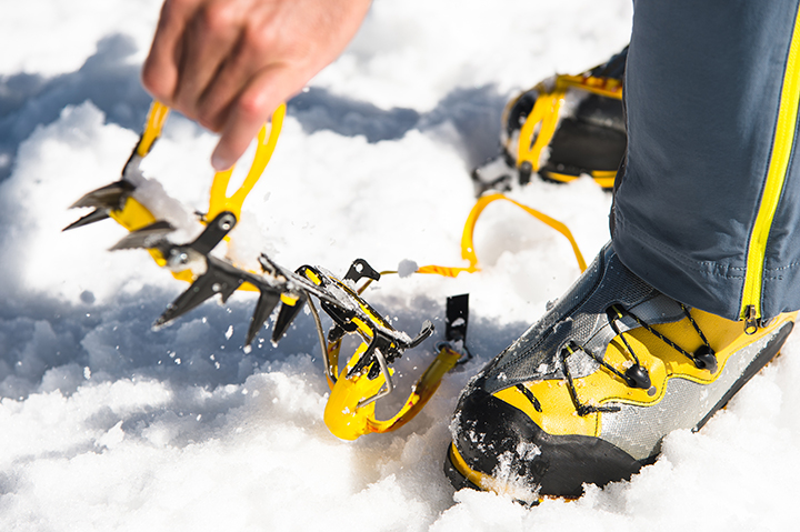 Crampons for the tongariro alpine crossing in winter