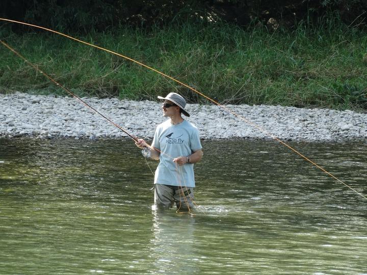 Summer freshwater fly fishing Tongariro