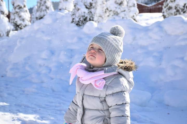child in snow