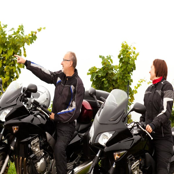 couple of motor cycle tour